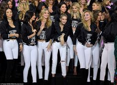 BFFs! Kendall and Gigi cosied up as the rest of the girls looked like they were having a w...