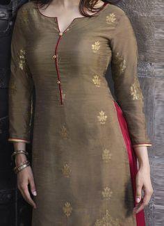 Churidhar Neck Designs, Salwar Neck Designs, Neck Designs For Suits, Churidar Designs, Kurta Neck Design, Sleeves Designs For Dresses, Dress Neck Designs, Stylish Dress Designs, Simple Kurti Designs