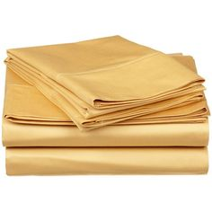 Simple Luxury 300 Thread Count Premium Long-Staple Combed Cotton Solid Queen Waterbed Sheet Set Color: Gold