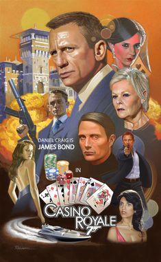 Casino royale iphone 6 case - james bond casino royale by david robinson James Bond Movie Posters, James Bond Movies, Film Posters, James Bond Party, Casino Night Party, Casino Theme Parties, Harley 48, James Bond Casino Royale, David Robinson