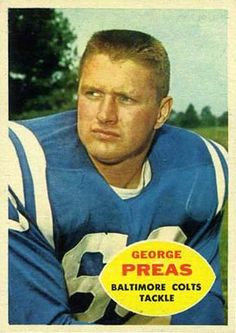 George Preas Football Trading Cards, Football Cards, Baseball Cards, Arena Football, Football Baby, Baltimore Colts, Baltimore Maryland, Football Conference, Vintage Football