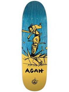 #Black #Label Agah #Skateboard #Deck with #art from #Neil #Blender 8.75 x 32 $49.99