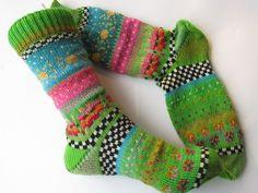 Kuschelsocken - meingreenery Socken Amy Gr. 38/39 - ein Designerstück von Lotta_888 bei DaWanda