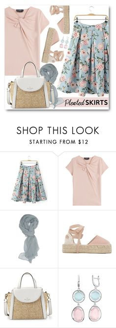 """""""Pleats, Please!"""" by brendariley-1 ❤ liked on Polyvore featuring Salvatore Ferragamo, Manebí, Kate Spade and pleatedskirts"""