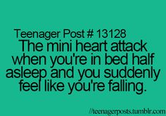 omg that happens to me so much. In fact, it just happened to me yesterday and my mom just starred at me like what the heck just happen.