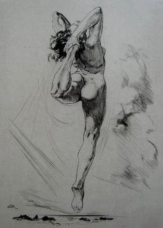 Amantes del Arte Alméry Lobel-Riche, Bailarina, punta seca, 1949