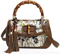 |cheap|discount|wholesale} hermes handbags  cheap New bamboo flora Gucci bag
