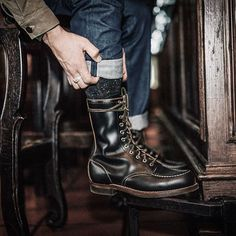 Freenote x @redwingheritage 110 Year Denim / Red Wing 110 Year Huntsman boots #freenotecloth #redwingheritage #madeinusa