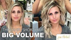 thin hair The Perfect 10 Minute Voluminous Bouncy Waves Tutorial Medium Thin Hair, Short Thin Hair, Medium Hair Styles, Long Hair Styles, Perm For Thin Hair, Thin Hair Tips, Medium Layered, Big Hair, Wavy Hairstyles Tutorial