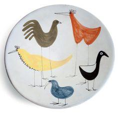 Roger Capron; Glazed Ceramic Plate, 1960s.