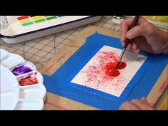 Painting with Brusho--This is cool! - YouTube