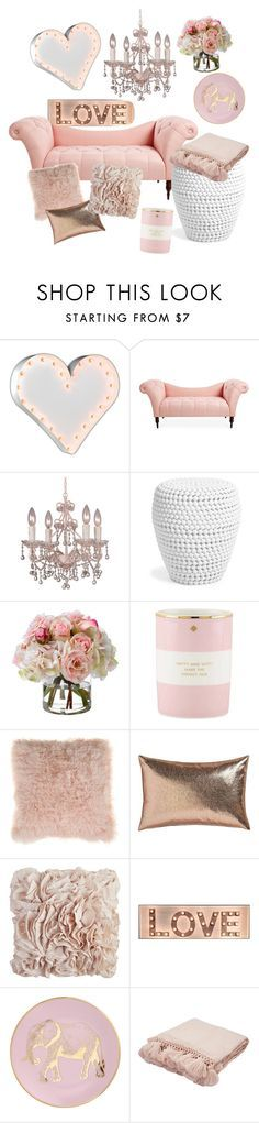 """""""The love room"""" by evelyn-anita on Polyvore featuring interior, interiors, interior design, home, home decor, interior decorating, Vintage Marquee Lights, Crystorama, Diane James and Kate Spade"""