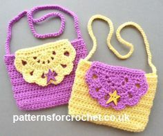 Free crochet pattern for child's purse http://patternsforcrochet.co.uk/childs-purse-usa.html #patternsforcrochet