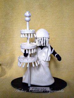 Orixá Oxalá - Oxalufan - 20 cm altura Orisha, Clay Crafts, Altar, Biscuits, Inspiration, Paper Straws, African Dolls, Doll Clothes, Sculptures