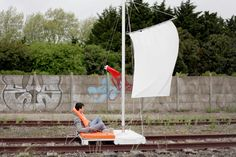 Before every self-respecting city copies New York City's High Line as a strategy to revitalize their abandoned railway tracks, it's worth the effort to take a look at this project by HeHe. The French urban design studio presents a fresh take on rediscovering derelict railroads by designing unconventional vehicles dedicated to open up the city's railways in a rather funny way.
