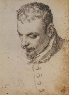 Potrait Drawing Portrait of a man, possibly Annibale Carracci by Agostino Carracci Portrait Sketches, Art Drawings Sketches, Pencil Portrait, Portrait Art, Life Drawing, Figure Drawing, Painting & Drawing, Annibale Carracci, Silverpoint