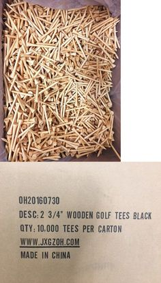 Golf Tees 18931: 10000 X 70Mm Golf Tees 2-3/4 Hard Wood BUY IT NOW ONLY: $149.99