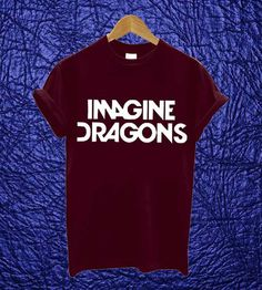 Imagine Dragons Shirt Black Maroon White Clothing By by AlangAlang