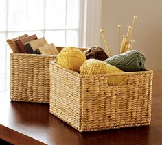 I'm gonna get these Large Savannah Utility Baskets from Pottery Barn - great for toys!!!