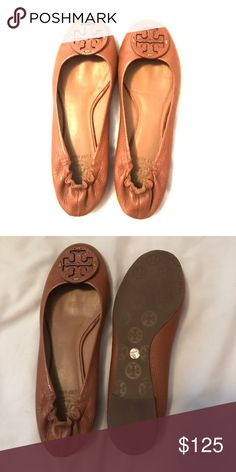 Tory Burch Ballet Flats size 7.5 Genuine- Classic Tory Burch Leather Ballet Flats; Size 7.5 Like New. Tory Burch Shoes Flats & Loafers
