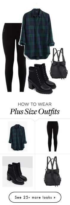 """Plaid"" by aowens99 on Polyvore featuring Madewell, Opening Ceremony, Zara, women's clothing, women, female, woman, misses and juniors"