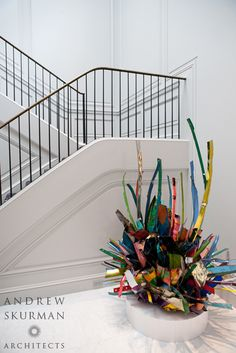Paneled stair hall. Photographer: Jade Studios, San Francisco