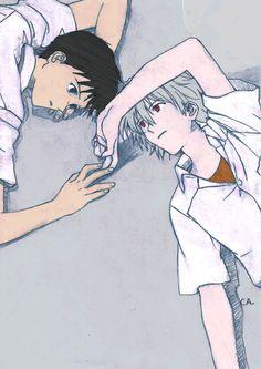 Shinji and Kaworu by franVrg on deviantART