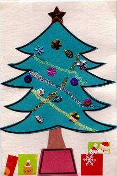 Glittered And Accessorised Christmas Tree