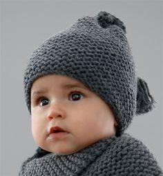 Modèle bonnet bébé au point mousse , phildar 7.30\u20ac