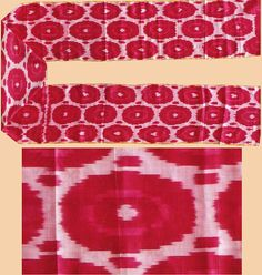 """Antique Silk Ikat from Uzbekistan Central Asia Extremely fine silk  Circa 1900 Size 75"""" x 13"""" Size 190 x 33cm  READ note"""