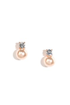 Simplicity Girl Rose Gold and Pearl Earrings at Lulus.com!
