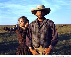 """Into the West"" w Keri Russel and Skeet Ulrich. Keri in old-timely dress to give an idea of what she might look like as Claire in Outlander. Period Romance Movies, High Plains Drifter, Skeet Ulrich, Madding Crowd, Keri Russell, Ordinary Day, Into The West, British Men, Hallmark Channel"