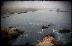 Beach  Greeting Cards scenic oceanrocks beach by LaughingDogStudio
