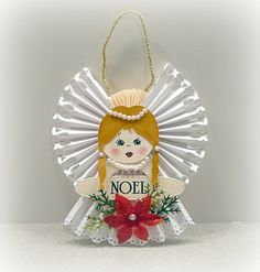 my version of Following the Paper Trails angel ornament