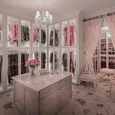 40 Fabulous Closet Designs And Dressing Room Ideas Walk In Closet Design, Bedroom Closet Design, Master Bedroom Closet, Girl Bedroom Designs, Closet Designs, Bedroom Decor, Baby Bedroom, Dream Closets, Dream Rooms