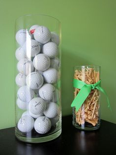 for our sports themed man cave, I have a huge Collection of Colored mini golf balls iue collected since I was a Kid