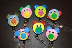 SALE 350  Animal Retractable Badge Holder by amosmom on Etsy, $3.50