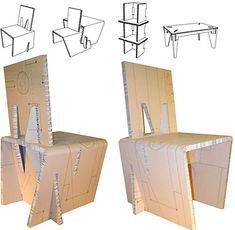 New origami design furniture cardboard chair ideas Cardboard Chair, Diy Cardboard Furniture, Cardboard Design, Paper Furniture, Cardboard Sculpture, Cardboard Paper, Cardboard Crafts, Furniture Plans, Furniture Making