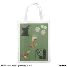 Pharmacist Pharmacy Tote Reusable Grocery Bags