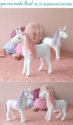 Our unicorns are back with this adorable felt unicorn project. You can create your own with our felt unicorn diy tutorial here. Felt Crafts Patterns, Felt Crafts Diy, Felt Diy, Diy Crafts For Kids, Unicorn Ornaments, Felt Ornaments, Sewing Stuffed Animals, Stuffed Animal Patterns, Diy Craft Projects