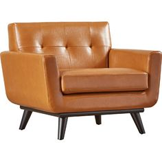 Corrigan Studio Saginaw Leather Arm Chair