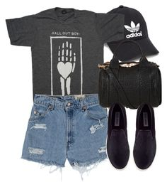 """""""Louis #4"""" by laurenmboot ❤ liked on Polyvore featuring adidas, Levi's, Alexander Wang and Steve Madden"""