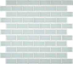 Arctic Ice 1 in. x 2 in. Glass Mesh-mounted Mosaic Wall Tile