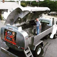 """18 Likes, 2 Comments - Michael Td Roberts (@robertsmichaeltd) on Instagram: """"A Oil Truck turned into a BBQ/ kitchen. Another exceptional #DIY way to reuse & #recycle old…"""""""
