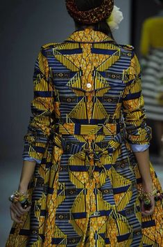 Love this Ankara trench ~ African Style