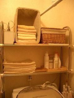 画像 : 洗面室のきれいな「タオル収納・選び」インテリア参考例 - NAVER まとめ