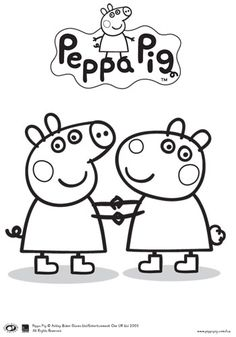 peppa pig and friends colouring in printable bub hub - Peppa Pig Coloring Book