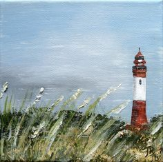 Painting lighthouse canvas 20 x 20 x 1,5 cm acrylic painting Charmepainting 33,00 €