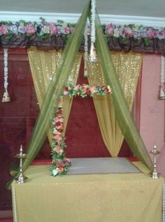 Mandap Decoration for Ganesh Chaturthi