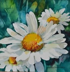 Watercolors: Dainty Daisies Annelein Beukenkamp
